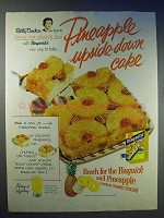 1954 Betty Crocker Bisquick Ad - Pineapple Upside-Down