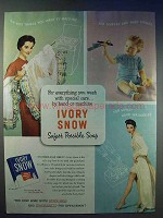 1954 Ivory Snow Detergent Ad - Safest Possible Soap