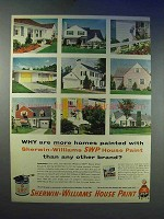 1955 Sherwin-Williams SWP House Paint Ad - More Homes