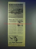 1955 New Holland Rotabar Rake Ad - Best I Ever Owned