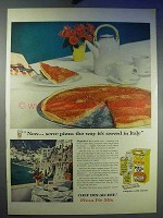 1956 Chef Boy-ar-dee Pizza Ad - Way Served in Italy