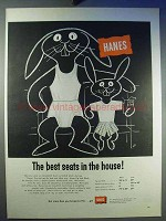 1956 Hanes Underwear Ad - Best Seats in the House