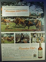 1956 Canadian Club Whisky Ad - Beefsteak Sweepstakes