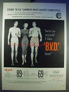 1956 B.V.D. Underwear Ad - Garment Must Satisfy