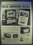 1956 Philco Television Ad - Convention Specials