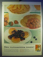 1956 Aunt Jemima Pancake Mix Ad - Summertime Treats