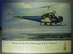 1956 Schweppes Tonic Water Ad - Helicopter