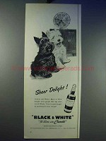 1956 Black & White Scotch Ad - Sheer Delight!