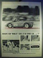 1956 Ronson Windlite Cigarette Lighter Ad - Sports Car