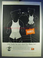 1956 Hanes Underwear Ad - Your Family has Men Too