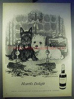 1957 Black & Weight Scotch Ad - Hearth's Delight