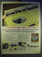 1958 RCA Whirlpool Washing Machine Ad - Dial The Fabric