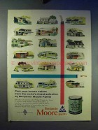 1958 Benjamin Moore Paint Ad - Pick Your House Colors