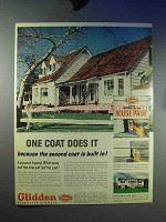 1959 Glidden Paint Ad - One Coat Does It