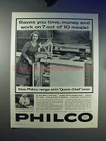 1959 Philco Quick-Chef Oven Ad - Saves You Time