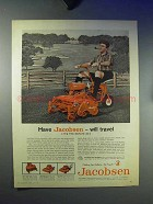 1959 Jacobsen Estate 24 Lawn Mower Ad - Will Travel
