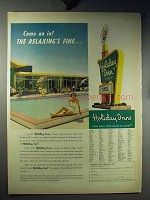 1960 Holiday Inn Motel Ad - The Relaxing's Fine!