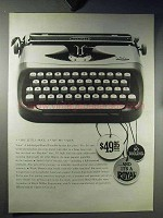 1960 Royal Portable Typewriter Ad - Very Little Price