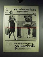 1960 Hoover Portable Vacuum Cleaner Ad - New Idea