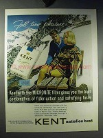 1960 Kent Cigarettes Ad - Full Time Pleasure