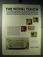 1964 Royal McBee Safari Portable Typewriter Ad