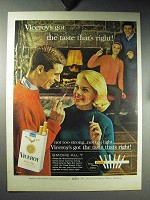 1964 Viceroy Cigarettes Ad - The Taste That's Right