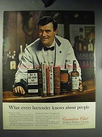 1964 Canadian Club Whisky Ad - Every Bartender Knows