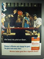1965 Winston Cigarettes Ad - Pitch on Flavor