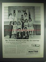 1965 Maytag Washer Ad - Just Like Her Marriage