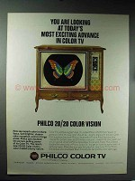 1965 Philco 20/20 Color Vision Television Ad