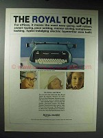 1965 Royal Electress Typewriter Ad - The Royal Touch