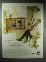 1965 Zenith Handcrafted Color TV Ad - The Pride