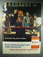 1965 Winston Cigarettes Ad - The Pitch on Flavor