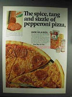 1965 Chef Boy-ar-dee Pizza Ad - Spice, Tang and Sizzle