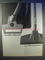 1966 Hoover Vacuum Cleaner Ad - Our Million Dollar Name