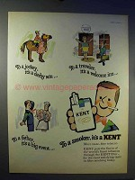 1966 Kent Cigarettes Ad - To A Jockey, It's A Derby Win