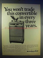 1966 KitchenAid Dishwasher Ad - This Convertible