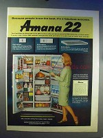 1966 Amana 22 Refrigerator Ad - A Fabulous Success