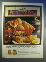 1966 Pepperidge Farm Rolls Ad - Like My Grandmother's