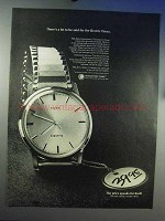 1966 Timex Electric Watch Ad - There's A Lot to Be Said