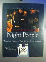 1967 Parliament Cigarettes Ad - Night People