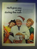1968 Kentucky Fried Chicken Ad - He'll Give You A Rest
