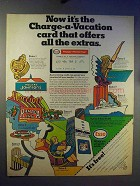 1969 Esso Gasoline Ad - Charge-a-Vacation Card