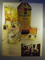 1969 Seagram's V.O. Canadian Whisky Ad - Parties