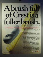 1969 Crest Toothpaste Ad - A Brush Full is Fuller Brush