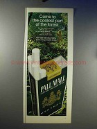 1969 Pall Mall Menthol 100's Cigarettes Ad - Coolest
