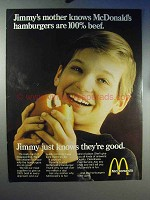 1969 McDonald's Ad - Hamburgers are 100% Beef