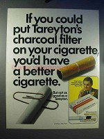 1969 Tareyton 100's Cigarette Ad - Charcoal Filter