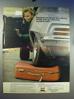 1969 American Tourister Suitcase Ad - Backed Car Over
