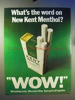 1970 Kent Menthol Cigarettes Ad - What's The Word?